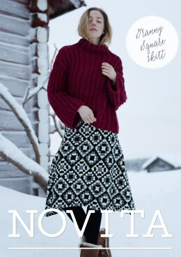 Granny Square Skirt in Novita Nordic Wool - Downloadable PDF