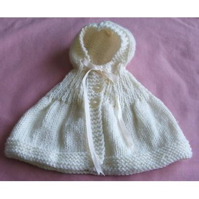 Hooded Cape for Doll or Teddy Bear Knitting pattern by Allsorts Knitwear Designs