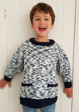 """""""Tunic with Contrast Edgings"""" - Tunic Knitting Pattern For Boys in Debbie Bliss Cotton DK and Debbie Bliss Cotton DK Print"""