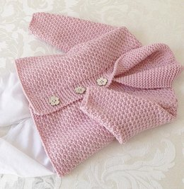 Versatile baby Cardigan or Vest with shawl collar P081