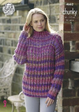 Sweater and Top in King Cole Chunky - 4662