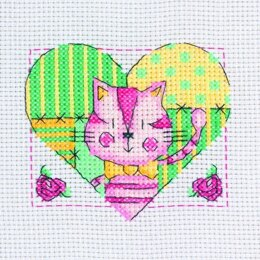 Creative World of Crafts Mini Kits - Cat in Heart