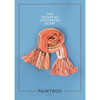 The Essential Crocheted Scarf in Paintbox Yarns Chunky Pots - Downloadable PDF