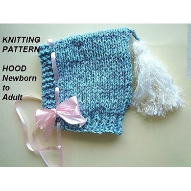 614 KNITTED HOOD, baby to adult