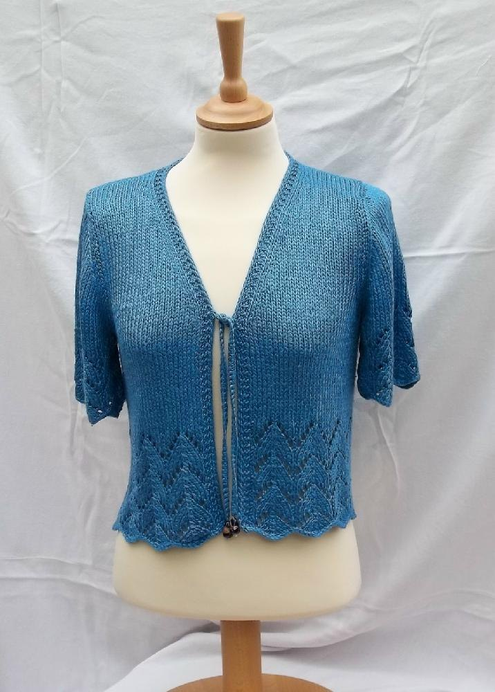 Bolero with Lace detail Knitting pattern by Willow Knits ...