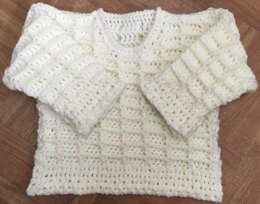 Baby's/Child's Sweater in Aran Yarn - 1001