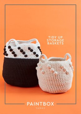 """Tidy Up Storage Baskets"" - Bag Crochet Pattern For Home in Paintbox Yarns Recycled T-Shirt"