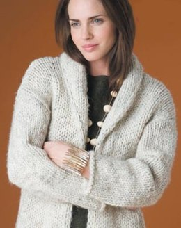 Autumn Afternoons Cardigan Lion Brand Wool-Ease Thick & Quick - 50924AD
