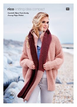 Cardigan and Scarf in Rico Essentials Alpaca Twist Chunky & Luxury Magic Mohair - 761 - Downloadable PDF