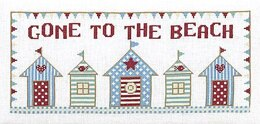 Historical Sampler Company Gone to the Beach Cross Stitch Kit - 34cm x 15cm