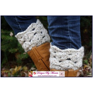 Crochet Sea Shells Boot Cuff Pattern An Easy Designer Legwarmer