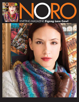 Zigzag Lace Cowl in Noro Shiro - 17 - Downloadable PDF