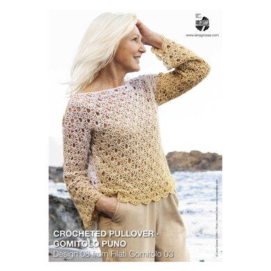 Crocheted Pullover in Lana Grossa Gomitolo Puno - 08 - Downloadable PDF