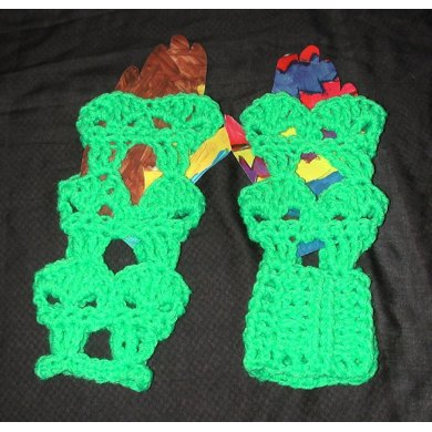 Alien Fingerless Gloves