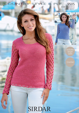 Sweaters in Sirdar Country Style 4 Ply - 9505
