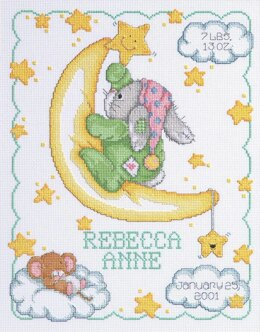 Janlynn Corporation Crescent Moon Birth Announcement Cross Stitch Kit