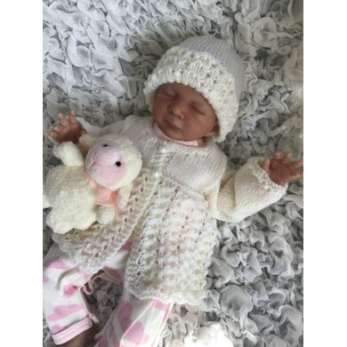 Lacy Cardi & Hat for preemies