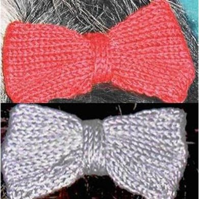 Better Bows-a knitted hair bow