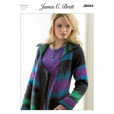 Jacket in James C. Brett Monsoon - JB064