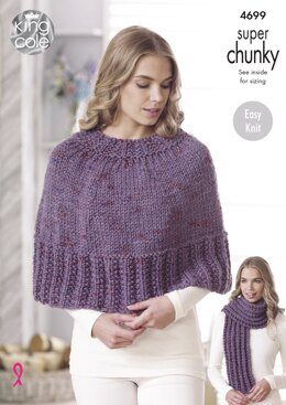 Capes, Hats, Scarf & Snood in King Cole Super Chunky Twist - 4699 - Downloadable PDF