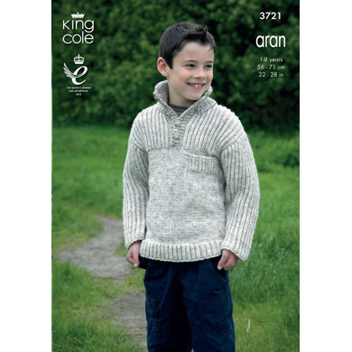 Cardigans and Sweaters in King Cole Aran - 3721