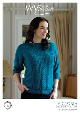 Victoria Lace Detail Top in West Yorkshire Spinners Exquisite Lace - Downloadable PDF