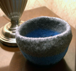 Felted Bowl in Plymouth Yarn Galway Roving - F592