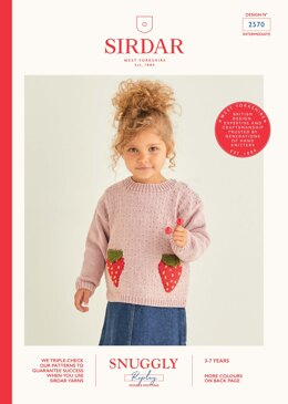 Cardigan and Jumper in Sirdar Snuggly Replay DK - 2570 - Leaflet