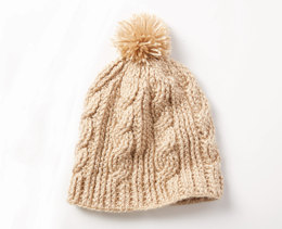 Cable Twist Hat in Caron Simply Soft