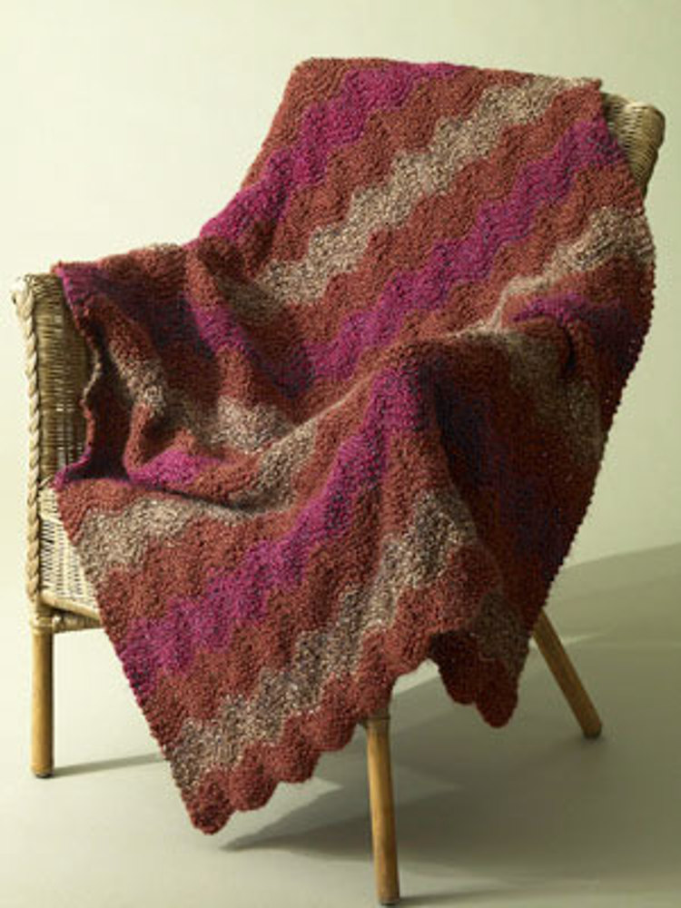 Catch The Wave Afghan In Lion Brand Homespun 60684 Crochet