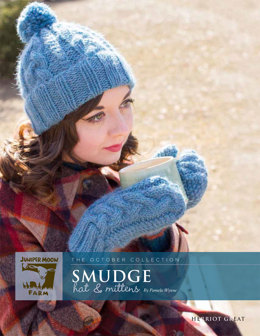 Smudge Hat & Mittens in Juniper Moon Farm Herriot Great - J27-01 - Downloadable PDF