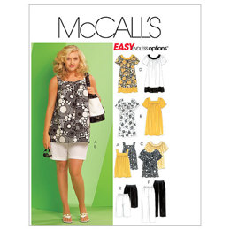 McCall's Women's Tops, Dresses, Shorts and Capri Pants M5640 - Sewing Pattern