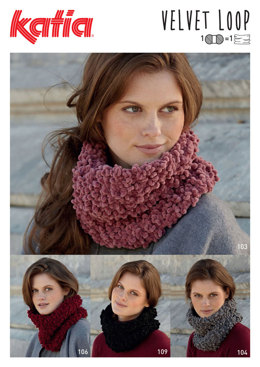 Neck Warmers in Katia Velvet Loop