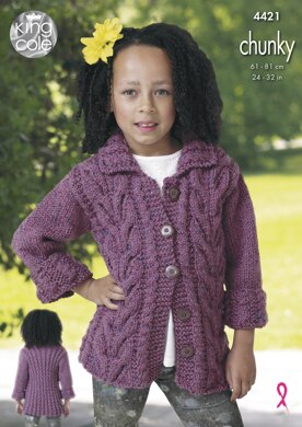 Jacket & Gilet in King Cole Chunky - 4421 - Downloadable PDF