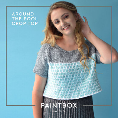 Around The Pool Crop Top in Paintbox Yarns Cotton DK and Metallic DK - Downloadable PDF