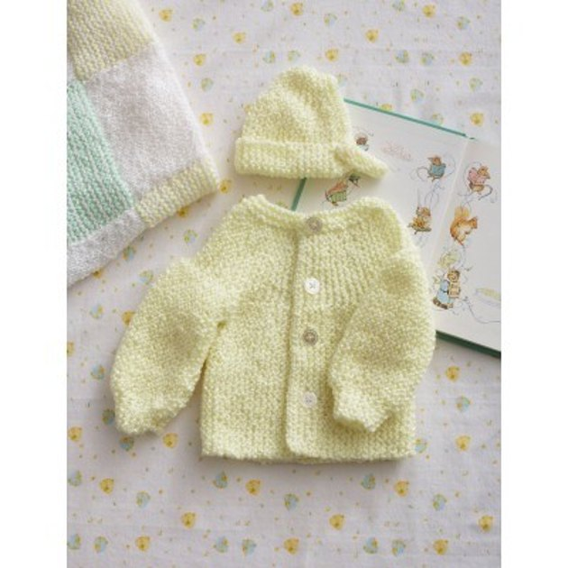 Preemie Knitting Patterns Free : Preemie Garter Stitch Set in Bernat Baby Coordinates ...