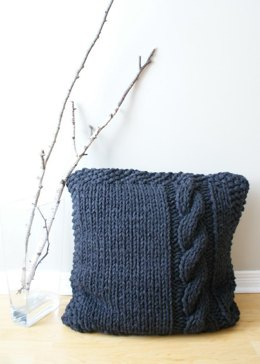"Chunky Cable Knit Pillow Cover Approximately 27"" x 27"""