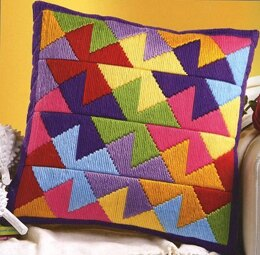 Vervaco Pinwheel Long Stitch Cushion Front - 40 x 40 cm