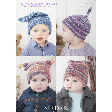 Hats in Snuggly Baby Speckle DK - 1482