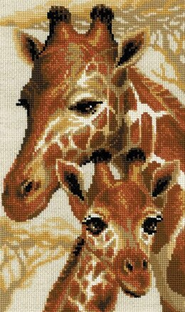 Riolis Giraffes Cross Stitch Kit - 22cm x 38cm
