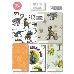 Craft Cotton Company Natural History Age of the Dinosaurs Fat Quarter Bundle - Age of The Dinosaurs