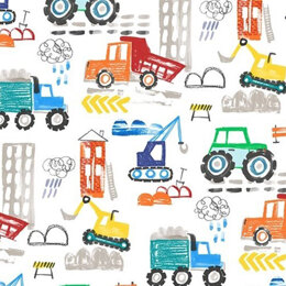 Michael Miller Fabrics Diggers and Dumpers  - MMCX9407