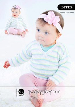 V-Neck Jumper & Hooded Jacket in DY Choice Baby Joy DK - DYP129
