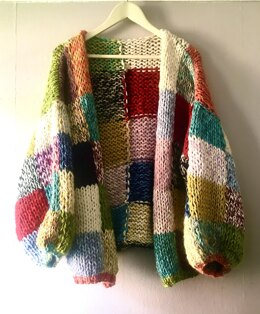 Stash buster patchwork cardigan