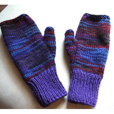 Easy Two Needle Fingerless Gloves Knitting Pattern By Marlene Sigel