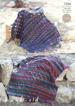Blankets in Hayfield Colour Rich Chunky - 7294