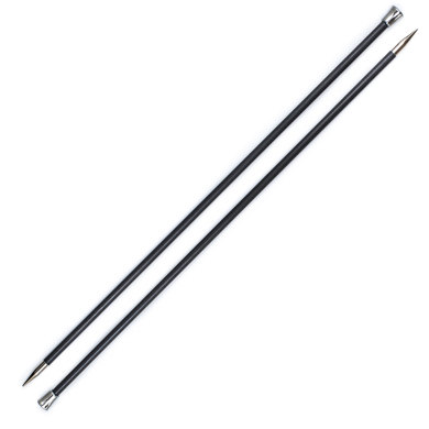 Knit Pro Karbonz Single Point Needles 35cm (1 Pair)