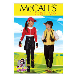McCall's Kids' Cropped Sweat Jacket, Hoodie, Romper, and Pants Costumes M7552 - Sewing Pattern