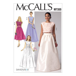 McCall's Misses' Crop Top and Gathered Skirts M7355 - Sewing Pattern