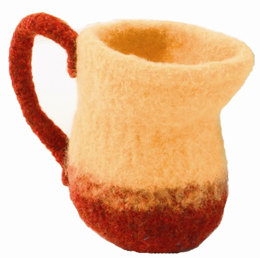 Felted Pitcher in Plymouth Galway Worsted - F160